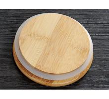 Крышка бамбуковая 8,5 см (без метал. покрытия) для чайника, стакана с двойными стенками, графина
