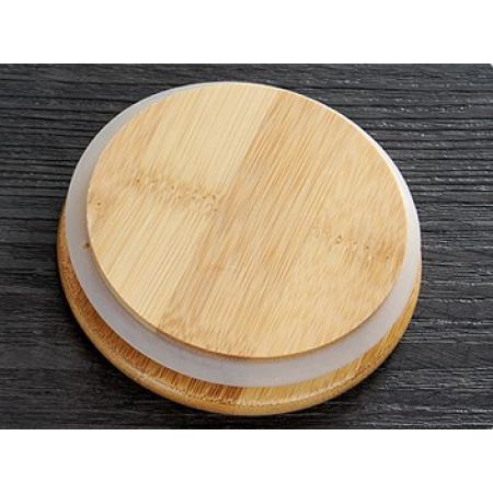 Крышка бамбуковая 8,5 см для чайника, стакана с двойными стенками, графина (без метал. покрытия)