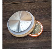 Крышка бамбуковая 8,5 см (с метал. покрытием)  для чайника, стакана с двойными стенками, графина