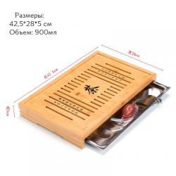 Чабань (чайный столик, чайная доска) Бамбук №1920 (43*28*5см)