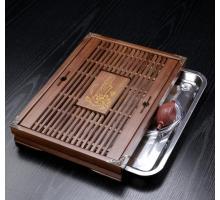 Чабань (чайный столик, чайная доска) Дерево 38*28*6 см № 1908
