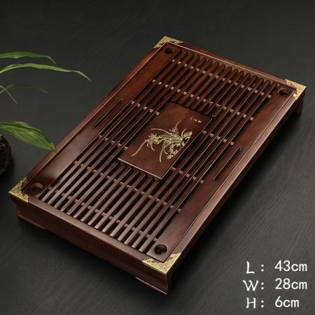 Чабань (чайный столик, чайная доска) Дерево 43*28*6 см № 1903
