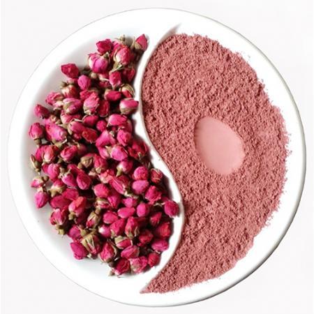 Розовая Матча из лепестков роз банка 100 гр