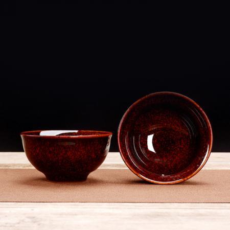 Сунская пиала (обливная глазурь, глиняная пиала в глазури с красивым узором) №1435