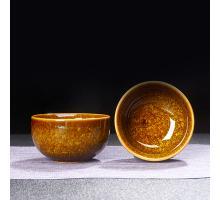 Сунская пиала (обливная глазурь, глиняная пиала в глазури с красивым узором) №1436