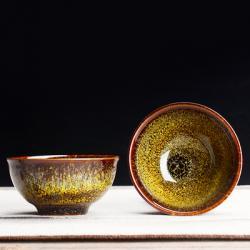 Сунская пиала (обливная глазурь, глиняная пиала в глазури с красивым узором) №1437