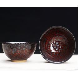 Сунская пиала (обливная глазурь, глиняная пиала в глазури с красивым узором) №1445