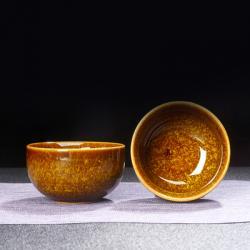 Сунская пиала (обливная глазурь, глиняная пиала в глазури с красивым узором) №1446