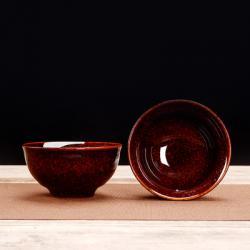 Сунская пиала (обливная глазурь, глиняная пиала в глазури с красивым узором) №1447