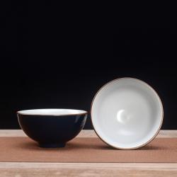 Сунская пиала (обливная глазурь, глиняная пиала в глазури с красивым узором) №1449