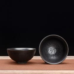 Сунская пиала (обливная глазурь, глиняная пиала в глазури с красивым узором) №1450