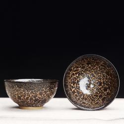 Сунская пиала (обливная глазурь, глиняная пиала в глазури с красивым узором) №1451
