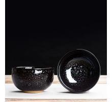 Сунская пиала (обливная глазурь, глиняная пиала в глазури с красивым узором) №1452