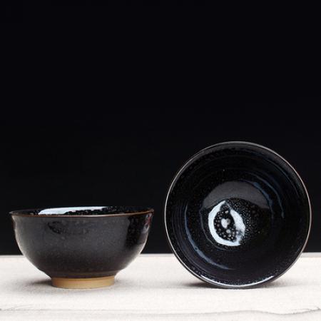 Сунская пиала (обливная глазурь, глиняная пиала в глазури с красивым узором) №1453