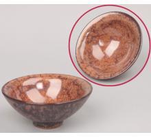 Сунская пиала (обливная глазурь, глиняная пиала в глазури с красивым узором) №6