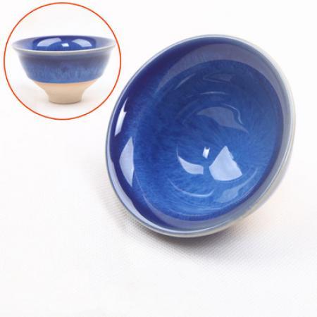 Сунская пиала (обливная глазурь, глиняная пиала в глазури с красивым узором) №1411