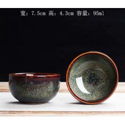Сунская пиала (обливная глазурь, глиняная пиала в глазури с красивым узором) №16