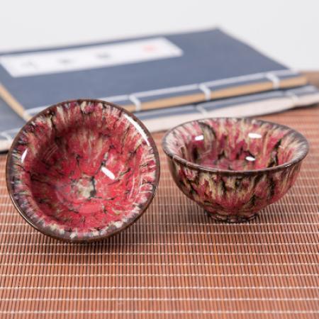 Сунская пиала (обливная глазурь, глиняная пиала в глазури с красивым узором) №23