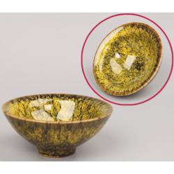 Сунская пиала (обливная глазурь, глиняная пиала в глазури с красивым узором) №4