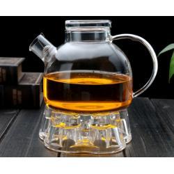 Заварочный стеклянный чайник с фильтром-пружинкой в носике, объем 1 л горлышко 7 см со стеклянной крышкой
