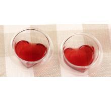 Пиала с двойными стенками в форме сердца 35 мл.
