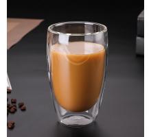 Стеклянный стакан с двойными стенками  Bodum (Качественная реплика) 450 мл