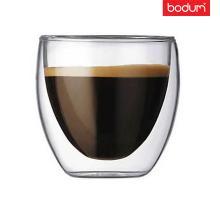 Стеклянный стакан с двойными стенками  Bodum (Качественная реплика) 80 мл
