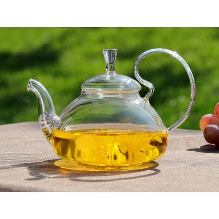 Заварочный стеклянный чайник с фильтром в носике 600 мл
