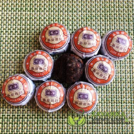 Пуэр Шу « Чэнь Пи Сяо Точа», пуэр с мандариновой коркой, Мин Кан №12