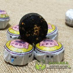 Пуэр Шу « Нин Мэн Сяо Точа», пуэр с лимоном, Мин Кан №10