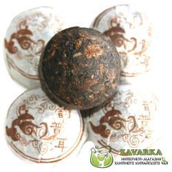 Пуэр Шу «Цзюй Хуа Сяо Точа», пуэр с хризантемой, Мин Кан №14