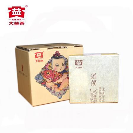 """Пуэр Шу Мэнхай Да И """"Дэ Фу Фан Чжуань"""" (Дарующий Счастье)  партия 1601, 2016 год, 100 грамм. Оригинал."""