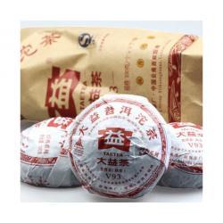 """Пуэр Шу Мэнхай Да И """"Точа V93"""", 2010 год. 100г"""