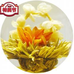 Связанный чай Корзинка с лилиями (Шарик зеленого чая с жасмином и красной лилией)