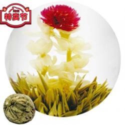Связанный чай Два Дракона (Шарик зеленого чая с цветком календулы, жасмина и гомфрены)