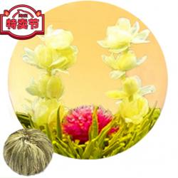 Связанный чай Любовь с первого взгляда (Шарик зеленого чая с цветком жасмина и гомфрены)
