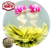 """Связанный чай """"Сердце к сердцу"""" (Шарик зеленого чая с цветком календулы, жасмина и гомфрены)"""