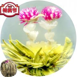 Связанный чай Сердце к сердцу (Шарик зеленого чая с цветком календулы, жасмина и гомфрены)