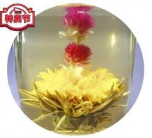 """Связанный чай """"Восходящее солнце"""" (Шарик зеленого чая с цветком календулы, жасмина и гомфрены)"""