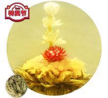 """Связанный чай """"Фея жасмина"""" (Шарик зеленого чая с цветком гомфрены и жасмина)"""