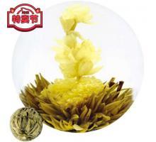 """Связанный чай """"Восточная красавица"""" (Шарик зеленого чая с цветком календулы и жасмина)"""