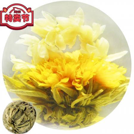 """Связанный чай """"Любовь на снегу"""" (Шарик зеленого чая с цветком календулы и жасмина)"""