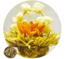 """Связанный чай """"Корзинка с лилиями"""" (Шарик зеленого чая с жасмином и красной лилией)"""