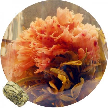 Связанный чай Красная гвоздика  (Шарик зеленого чая с гвоздики)