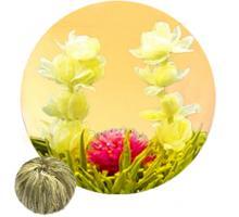 """Связанный чай """"Любовь с первого взгляда"""" (Шарик зеленого чая с цветком жасмина и гомфрены)"""