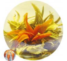 """Связанный чай """"Полет Феникса"""" (Шарик зеленого чая с красной лилией)"""