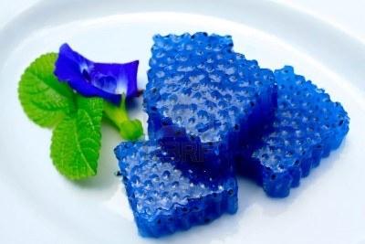 """Рецепт желе из синего чая. Синий тайский чай в интернет-магазине """"Zavarka""""."""
